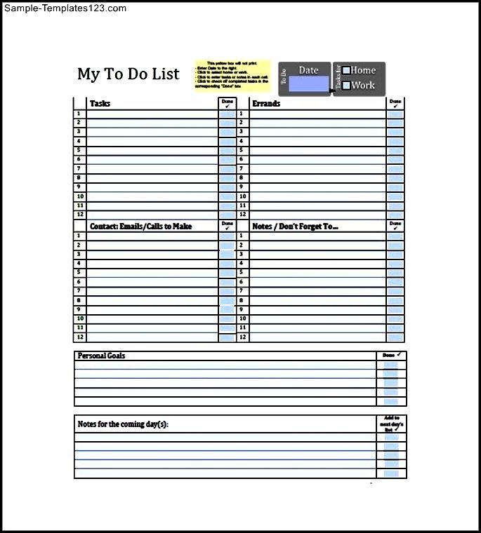 Sample To Do List  KakTakTk