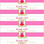 Free Water Bottle Label Template Baby Shower