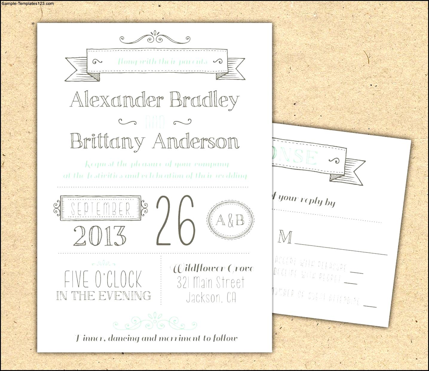 Wedding Invitation Downloads  Invitation Downloads