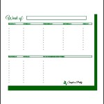 Free Weekly To DO List Template