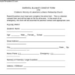 Free download Child Medical Consent Form