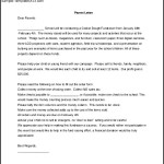 Fundraising Letter to Parents Microsoft Word Format