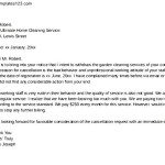 Garden Cleaning Service Cancellation Letter
