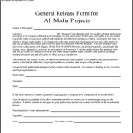 General Media Project Release Form