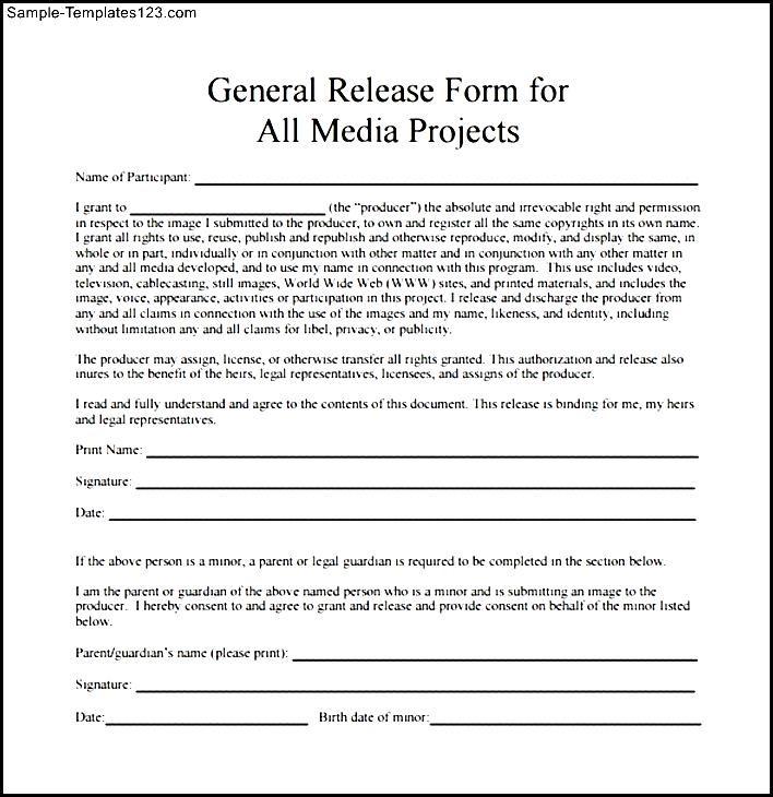 Sample Social Media Photo Release Form