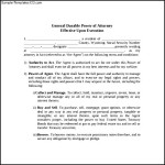 General Power of Attorney Form To Download