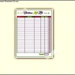Gift List Christmas Template PDF Printable