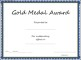 Gold Medal Award Certificate Template
