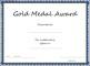Gold Medal Award Certificate Template