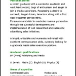 Graduate Media Sales Executive Cv Template PDF