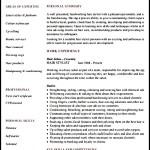 Hairdressing CV Template Sample