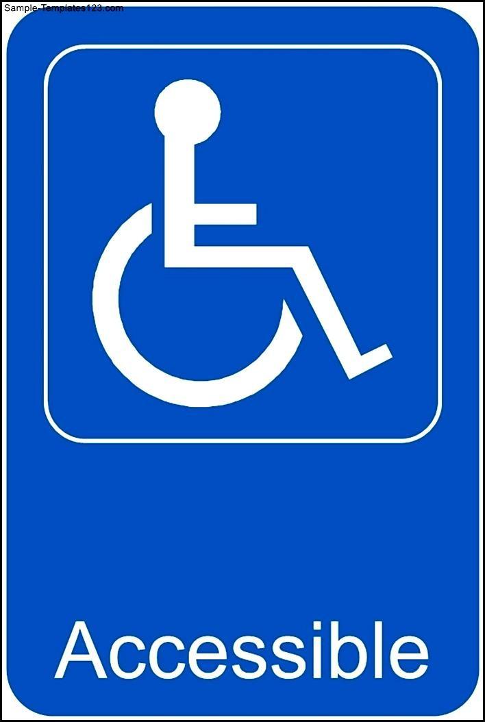 Handicap accessible template sample templates sample templates for Handicap template