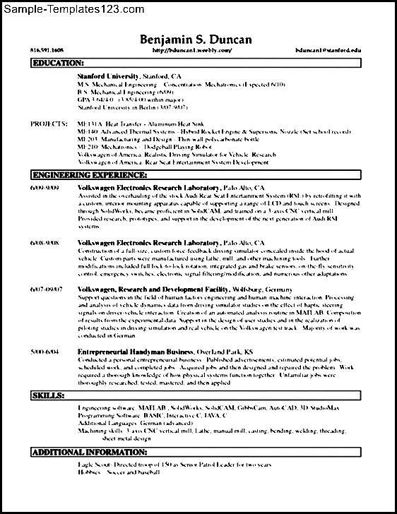 Handyman resume examples