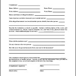 Harassment Complaint Form of Employee