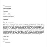 Hardship Letter Credit Card