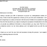 Harvard Acceptance Letter Template Word Format for Free