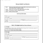 Health Care Advance Directive Form