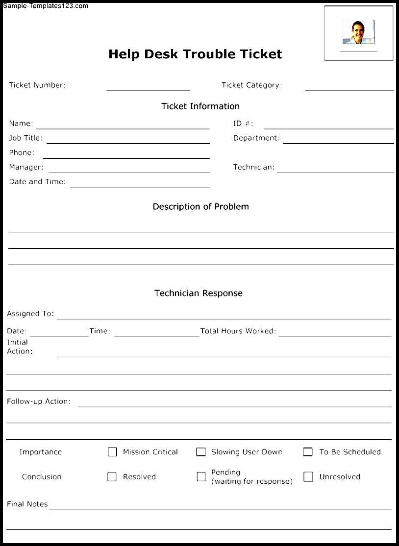 help desk trouble ticket template sample templates. Black Bedroom Furniture Sets. Home Design Ideas