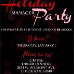 Holiday Party Invitation PSD