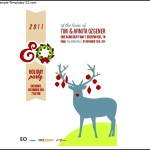Holiday Party Invitation Template