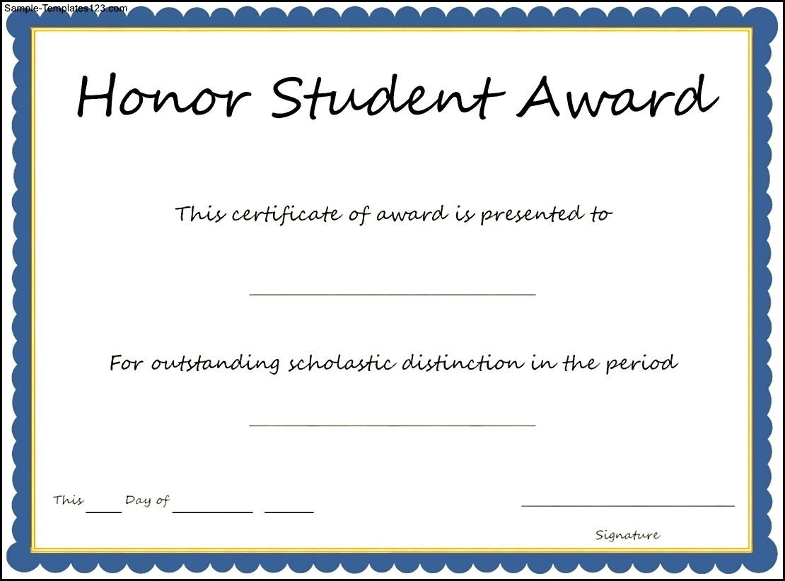 Student award certificate templates image collections templates student award certificate templates gallery templates example certificate of honorary template aradio certificate of honorary template yadclub Image collections