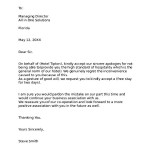 Hotel Apology Letter Free Download
