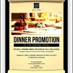 Hotel Dinner Promotion Flyer