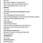 Human Resources Manager CV Example