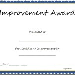 Improvement Award Certificate Template