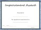 Improvement Award Certificate Template