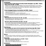 Internship Resume for College