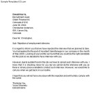Interview Rejection Letter for Internal Candidate