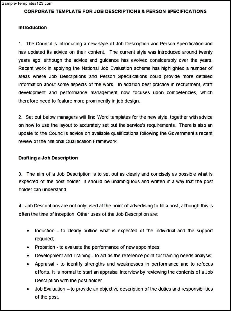 job description and person specification essay Free essay: create a job description and job specification for a starbucks employee do not simply copy and paste the job description from the starbucks.