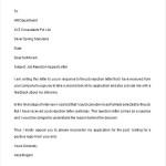 Job Rejection Appeal Letter