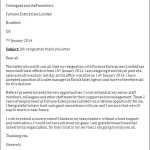 Job Resignation Thank you Letter