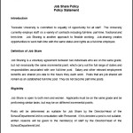Job Share Policy and Procedure Template