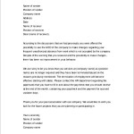 Job Termination Letter Due to Miss Conduct