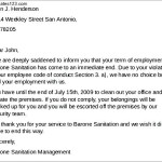 Job Termination Letter from Employment