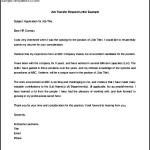 Job Transfer Request Letter Example Word Doc