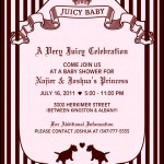 Juicy Couture Baby Shower Invitation Template
