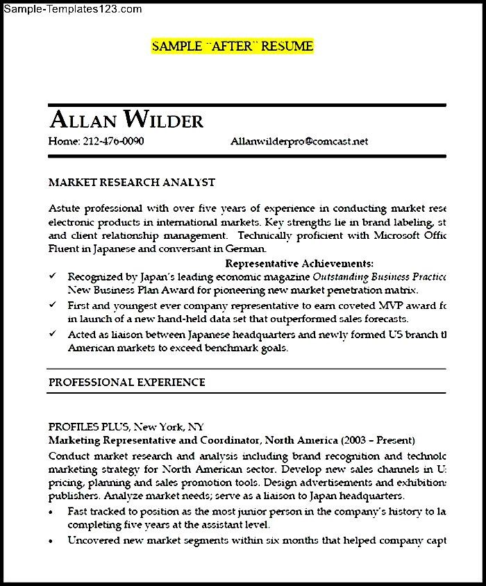 junior market research analyst after resume pdf  sample