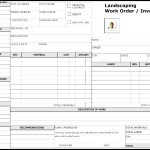 Landscaping Work Order Form Template