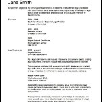Lawyer Resume Template PDF
