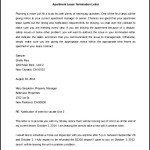 Lease Termination Letter Apartment Template Word Doc