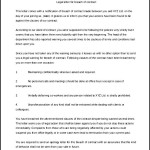 Legal Letter Template for Breach of Contract Printable Doc