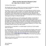 Letter Requesting Donations For Silent Auction PDF Example