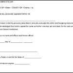 Letter for General Notary Statement Word Doc Download