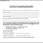Letter of Authorization Form