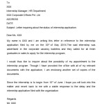 Letter of Inquiry Internship