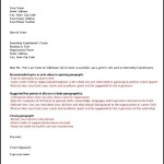 Letter of Intent For Applying a Job Sample PDF Format Download